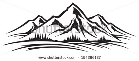 Montana clipart Mountain Clip - Mountain Clipart Black And White
