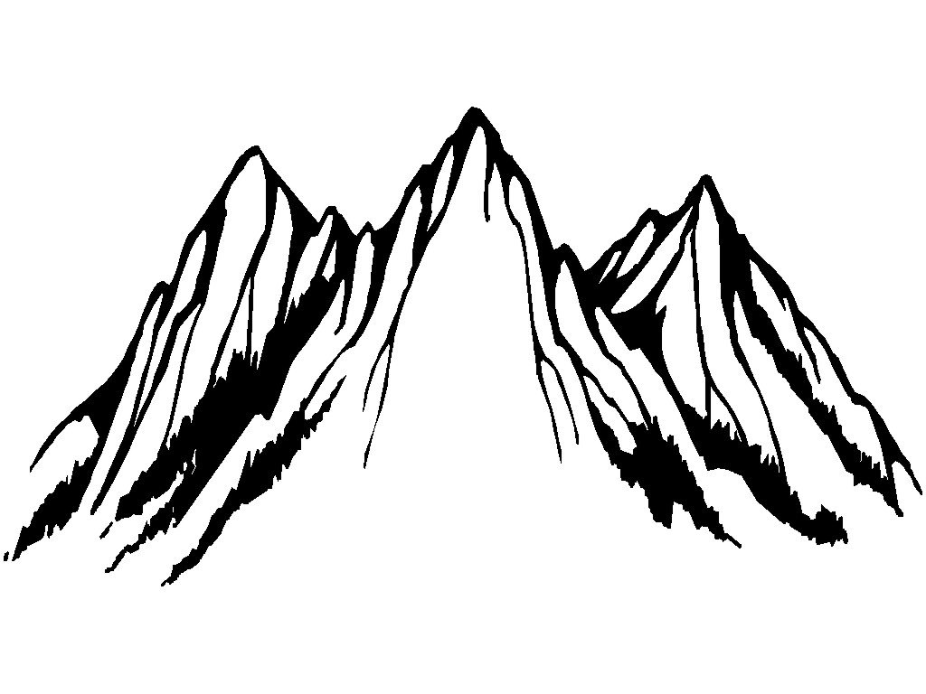 Mountain Black And White Mountain Clipart Black And White Free Clip Art  Images