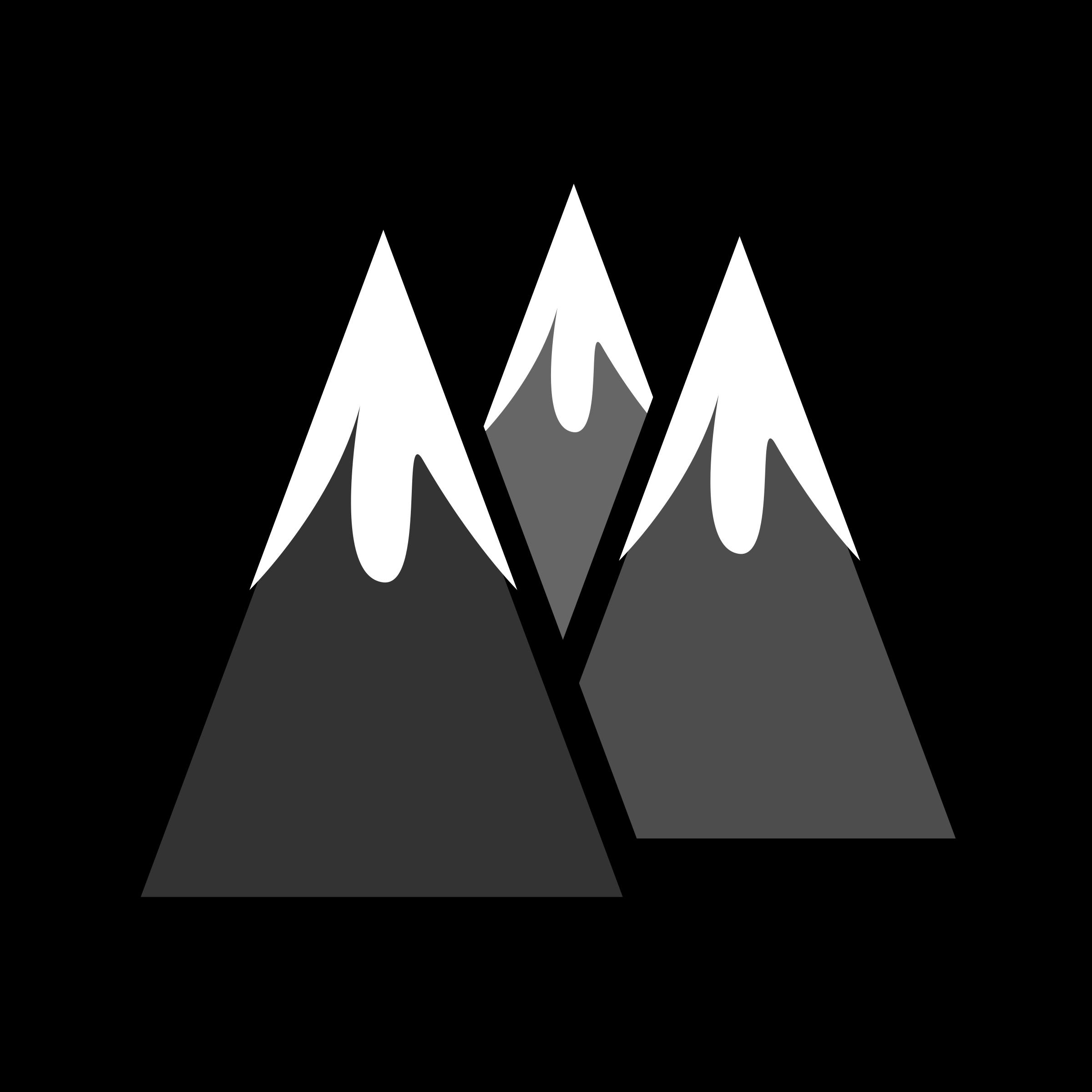 Mountain range clip art free clipart images 4