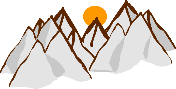 Mountain Range Drawing Mountain Range Sunset Hi Png