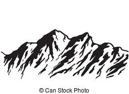 ... mountain range - Mountain range isolated on white.
