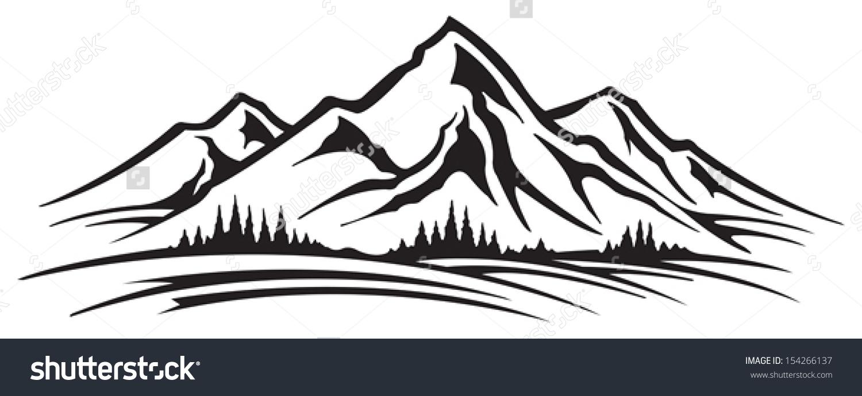 Mountain Range Stock Vector .
