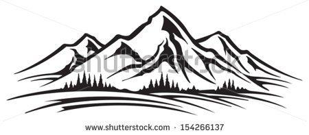 Mountain Range Stock Vector