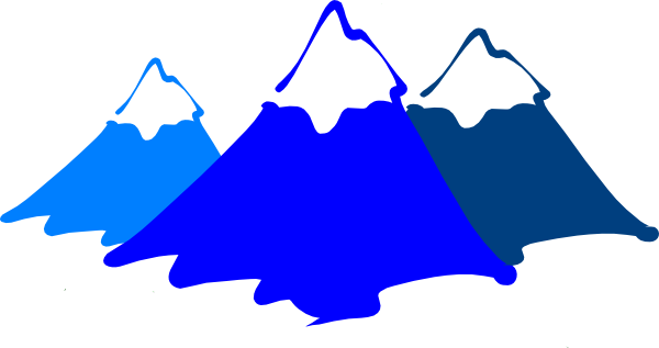 Large Mountains Clipart #1