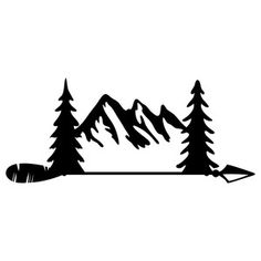 Mountain arrow - Mountains Clipart