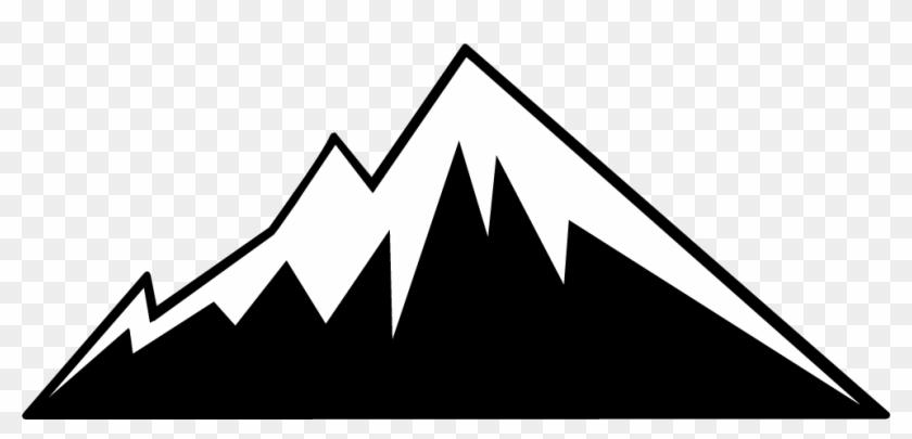 Mountain Outline Clipart Throughout Mountain Outline - Mountain Logo Vector  Png