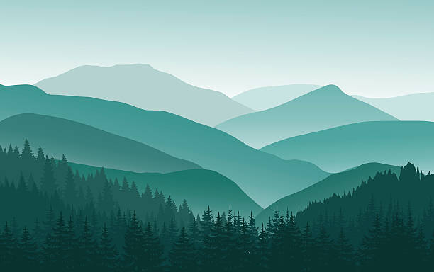 Royalty Free Smoky Mountains  - Mountains Clipart