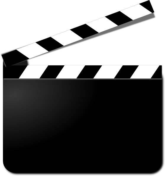 movie clapper clipart