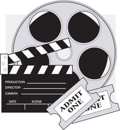 Movie reel film reel clip art2 .