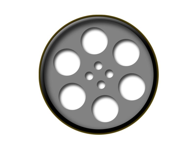 Movie reel film reel clipart image 3