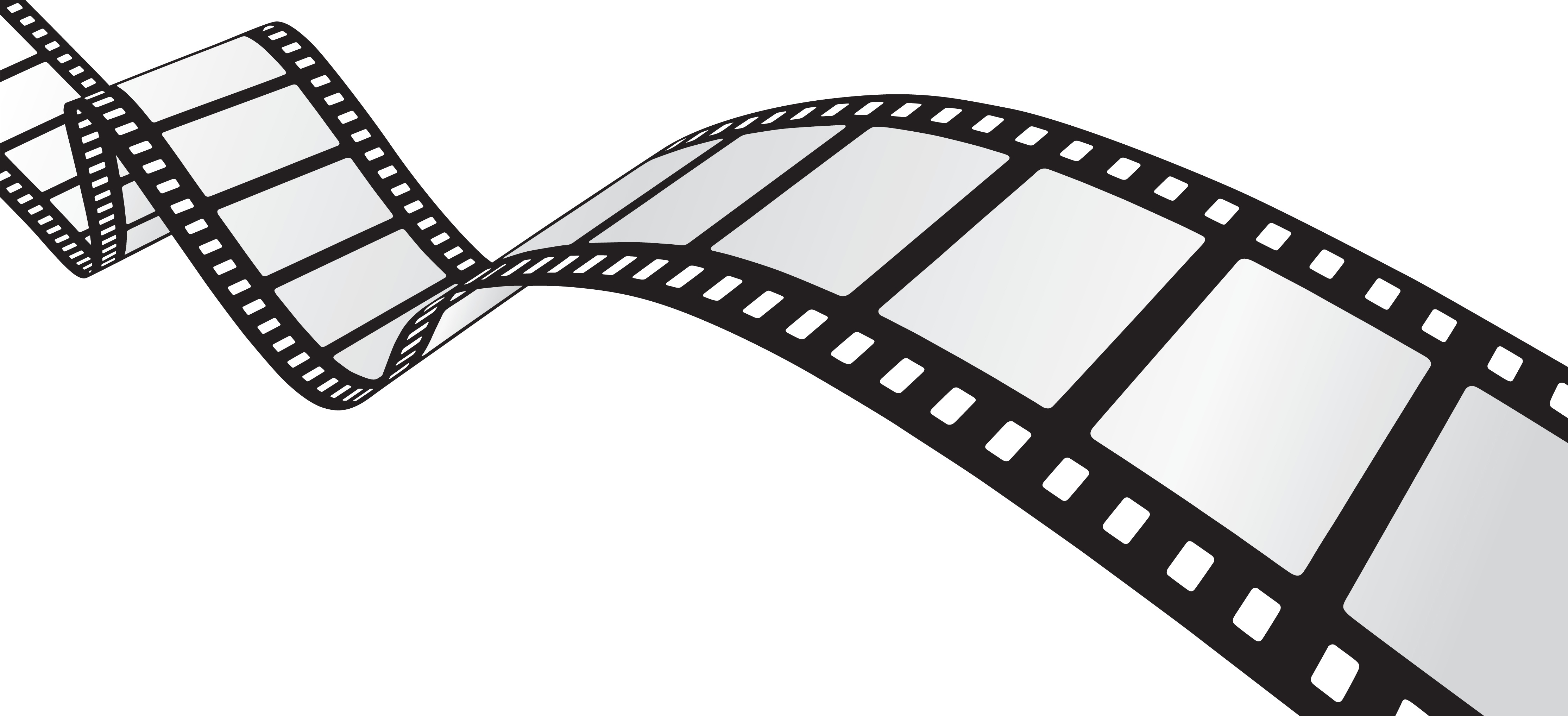 Movie reel movie film strip clip art image 3