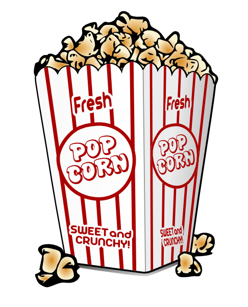 Movie theater popcorn clipart free clipart images 2