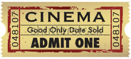 Movie ticket clipart free .
