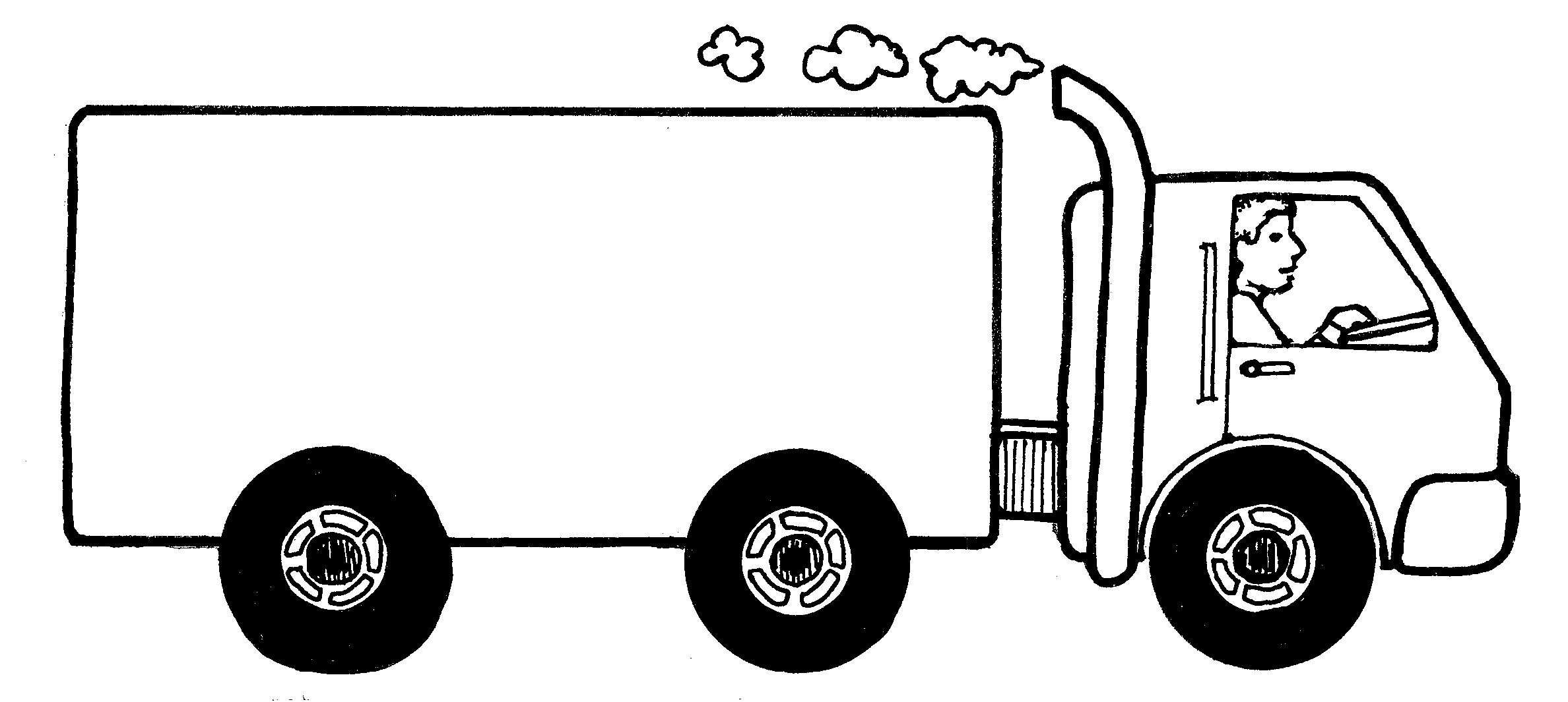 Moving Van Clipart Black and .