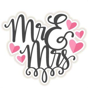 Mr u0026amp; Mrs Title SVG scrapbook cut file cute clipart files for silhouette cricut pazzles free