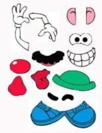 Mr Potato Head Parts Printables