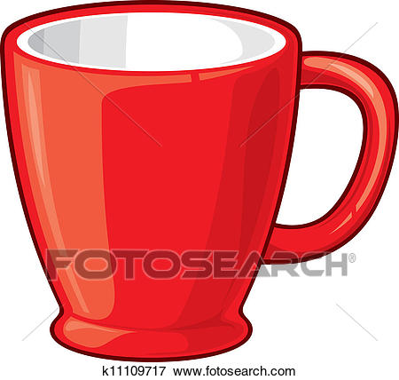 Clip Art - Coffee cup (Coffee mug). Fotosearch - Search Clipart,  Illustration
