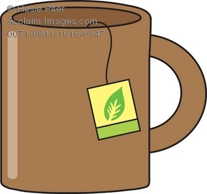 Royalty Free Clipart Illustration of a Brown Mug With Tea