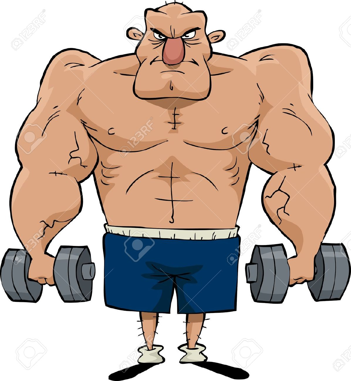 Muscle Clip Art . muscle man: Big man with .