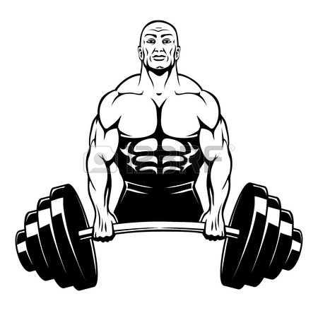 muscle man: Vector muscle man bodybuilder Illustration