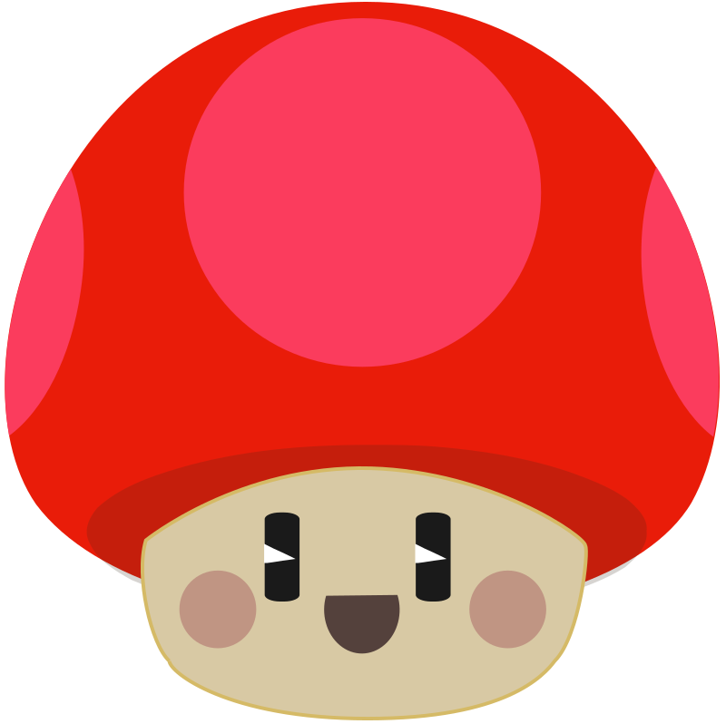 Free Cute Happy Cartoon Mushroom Clip Art