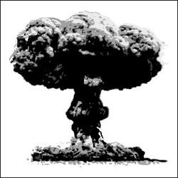 Atomic Mushroom Cloud Clipart - Mushroom Cloud Clipart