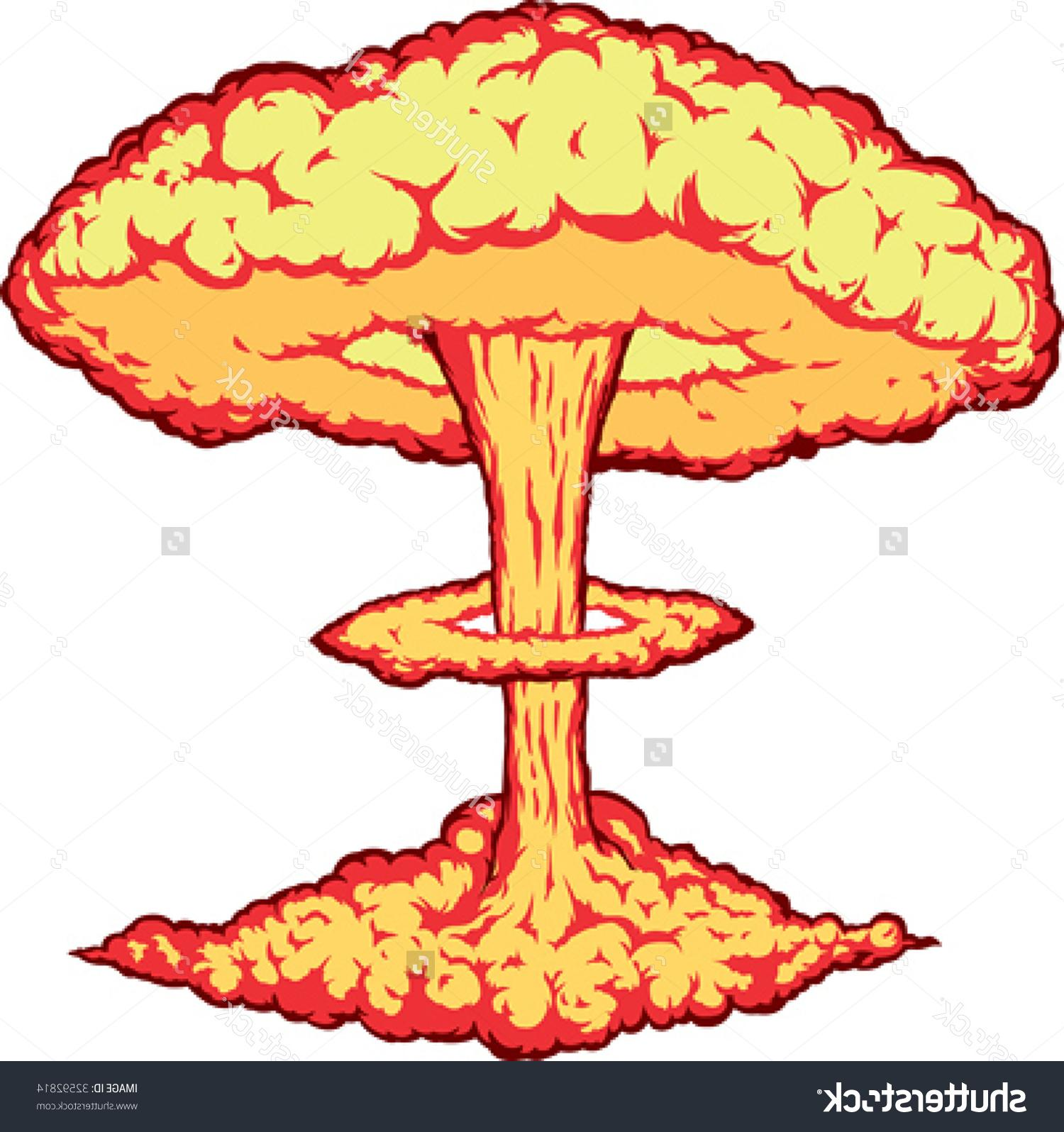 Best Mushroom Cloud Clip Art Drawing