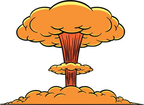 Eruption clipart mushroom cloud #3