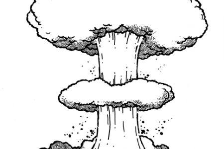 Explosion clipart mushroom cloud #7