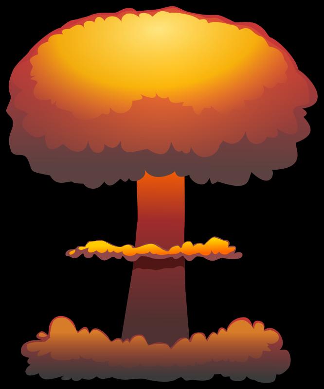 Mushroom Cloud Clipart #1
