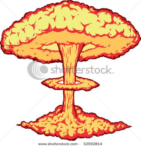 Nuclear Mushroom Cloud Clipar - Mushroom Cloud Clipart