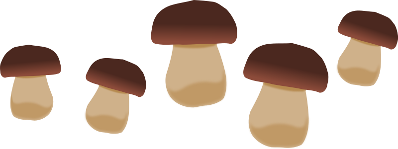 Mushrooms 2 Clip Art. This .