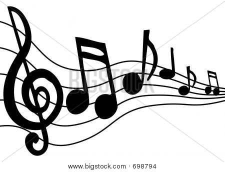 music notes on staff clipart