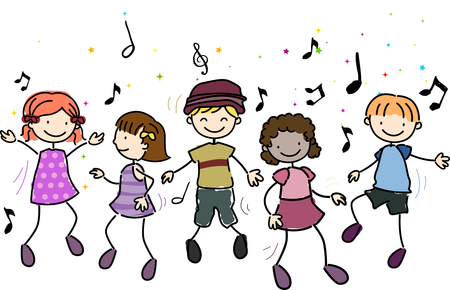Music classroom clipart - .