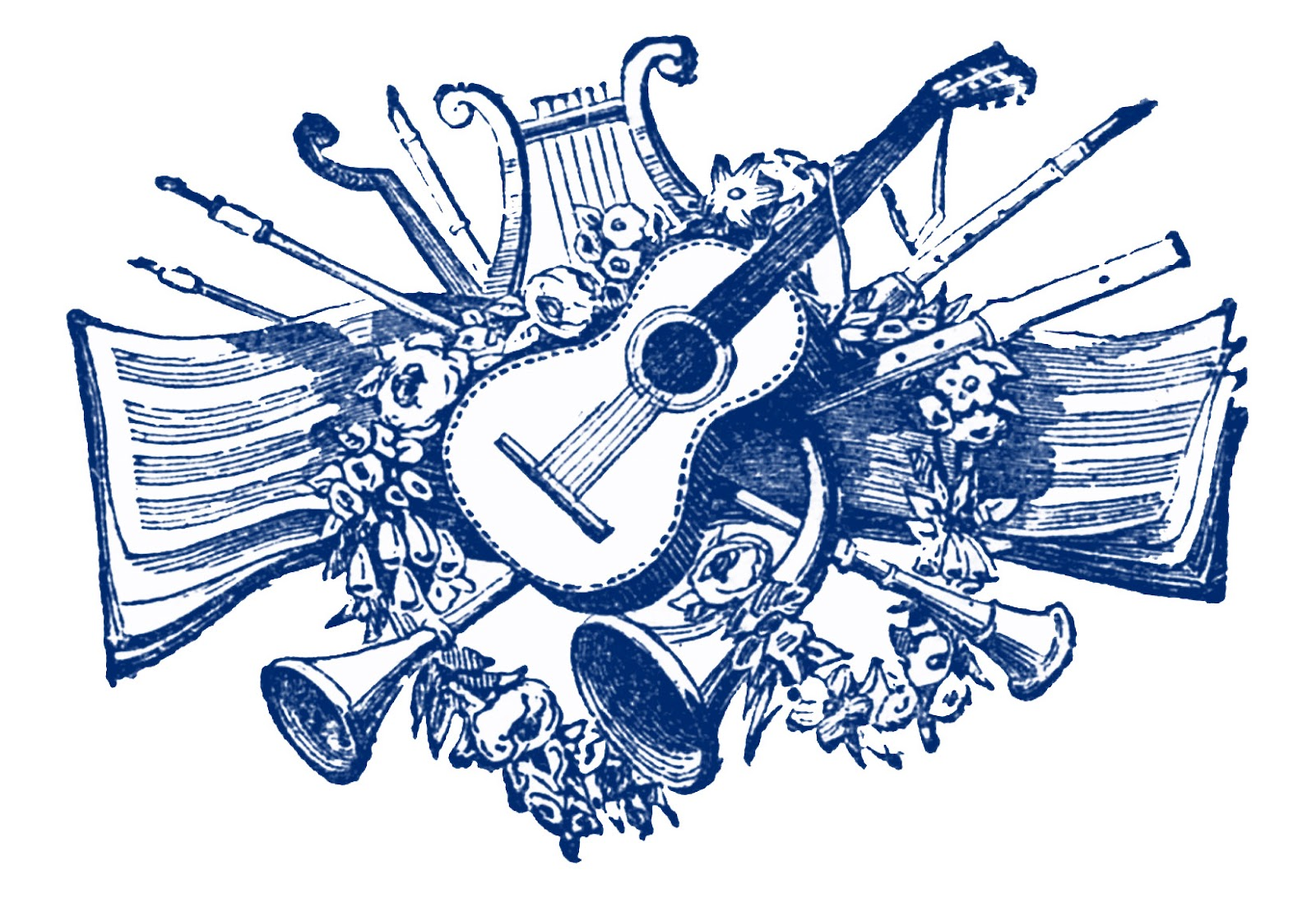 Music clip art notes free .