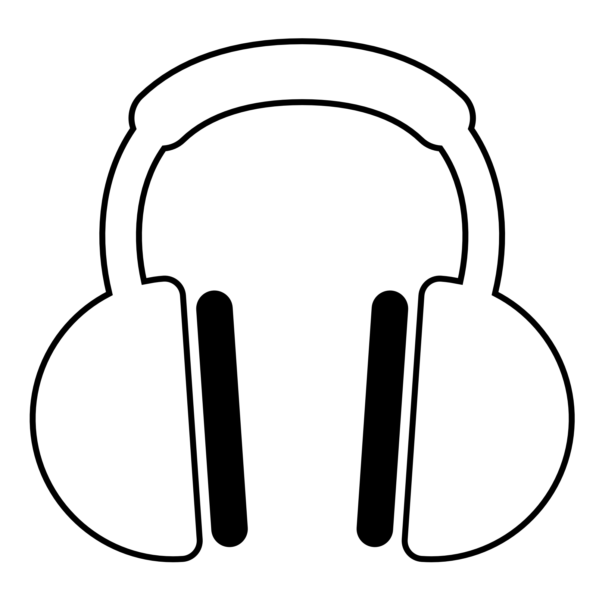 Listening To Music Clipart Black And White | Clipart library - Free