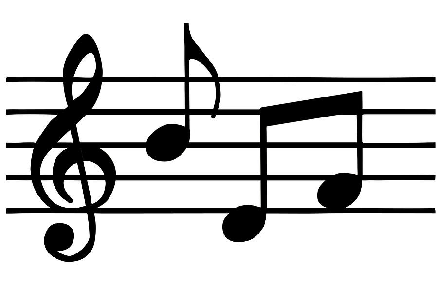 Music clipart black and white #2