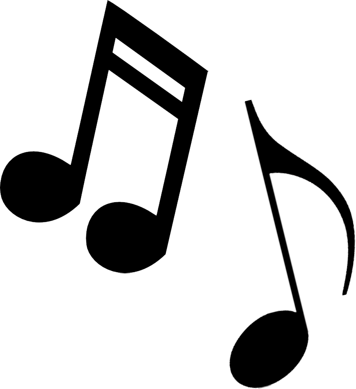 Music notes black and white free music note clip art