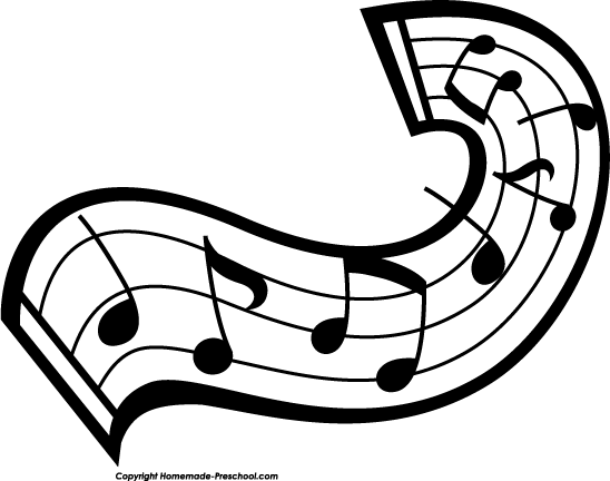Music notes clipart black and white free clipart 3