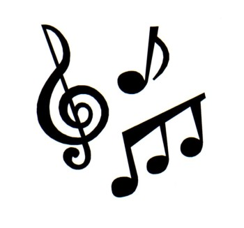 Music notes clipart black and white free clipart 4