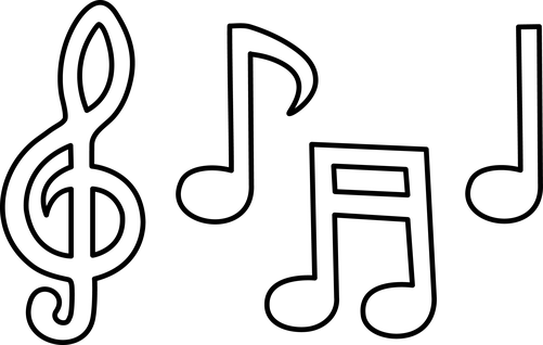 white music notes music notes black and white music note clipart black and white  clipart for teachers