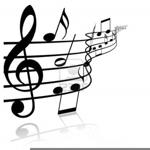 Black And White Music Notes C - Music Notes Clipart Black And White