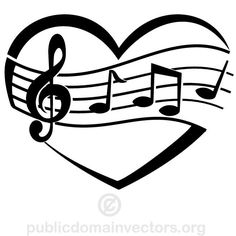 MUSIC LOVE VECTOR GRAPHICS.ep - Music Notes Clipart Black And White