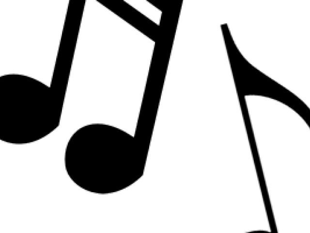 Music Notes Clipart black and white 1 - X