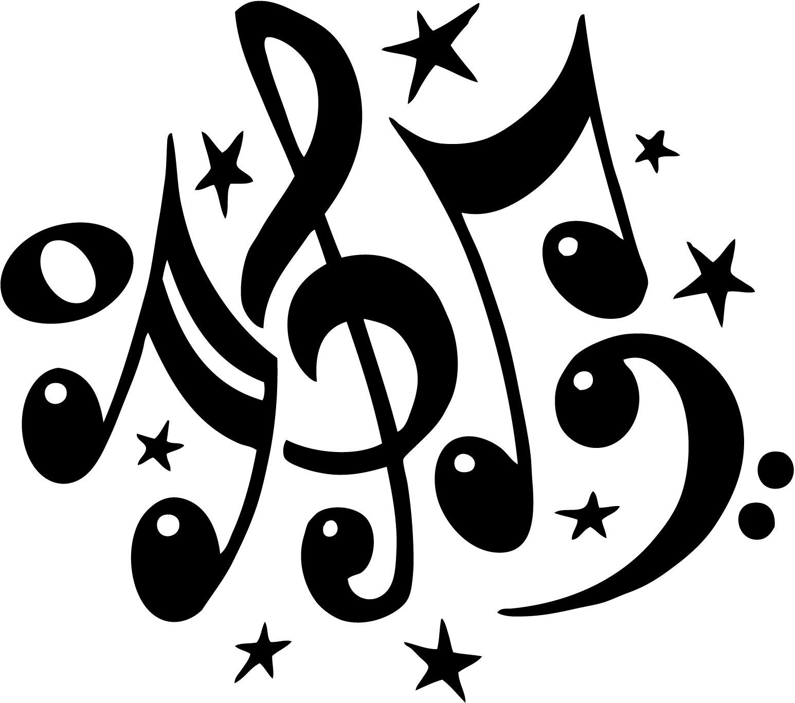 Music notes musical notes clip art free music note clipart image 1 3 - Clipartix