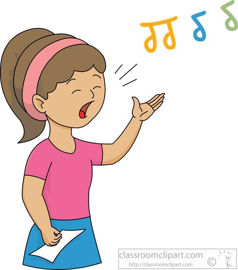 Music singing clipart - ClipartFest