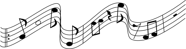 music staff clipart. music notes on staff% .