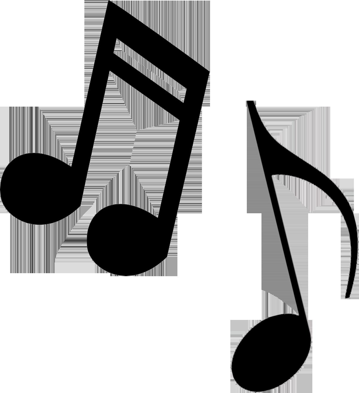Musical clip art music notes .