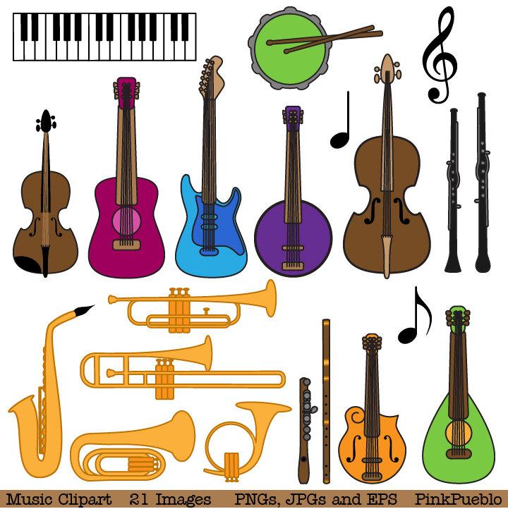 Musical Instrument Clipart Clip Art Music Clip Art By Pinkpueblo