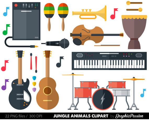 Musical Instrument Clipart Clip Art music clipart music clip art kids musical instruments clipart school music clipart music clipart   Crafts, ...